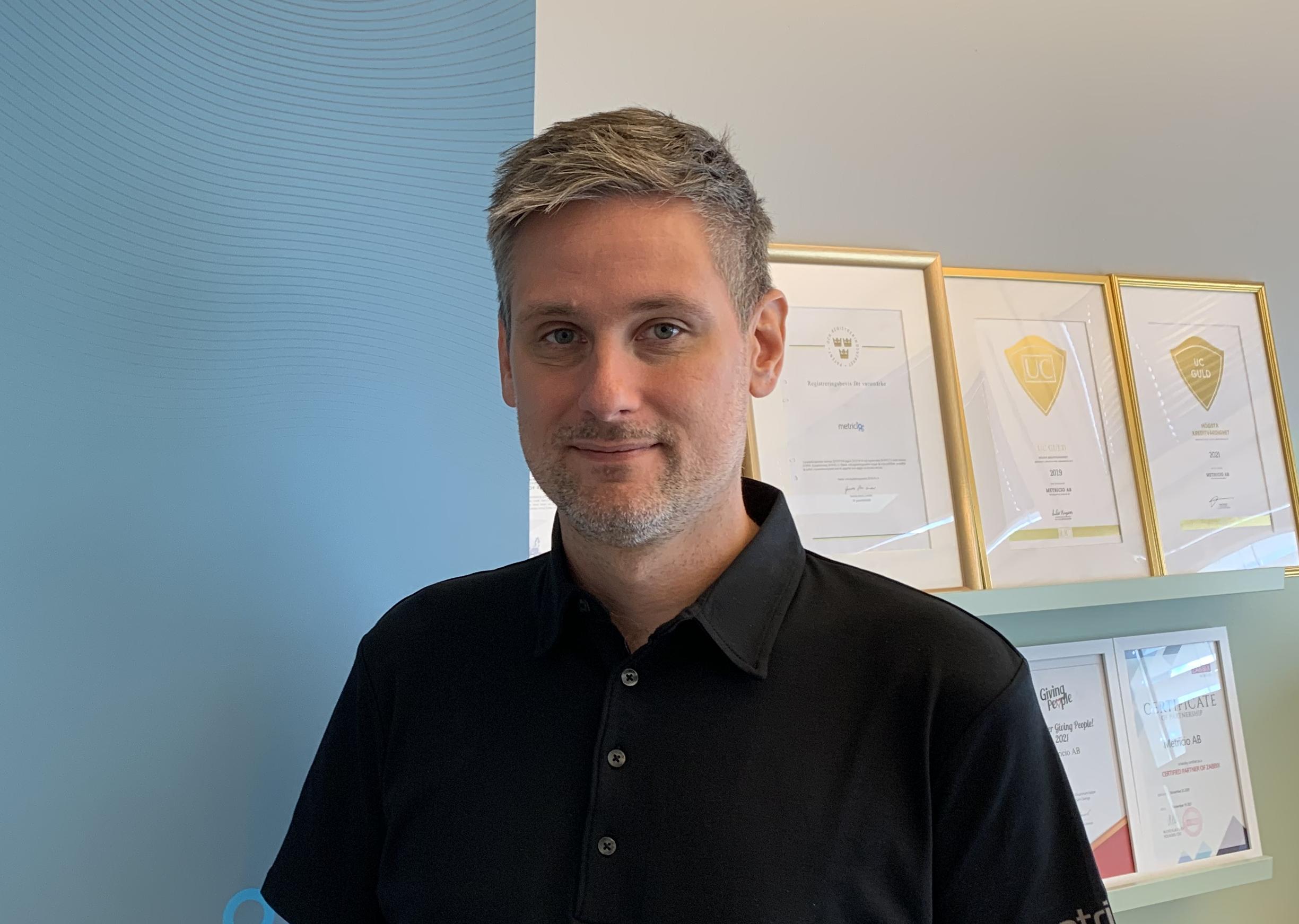 Johan Lindgren, konsult på Metricio